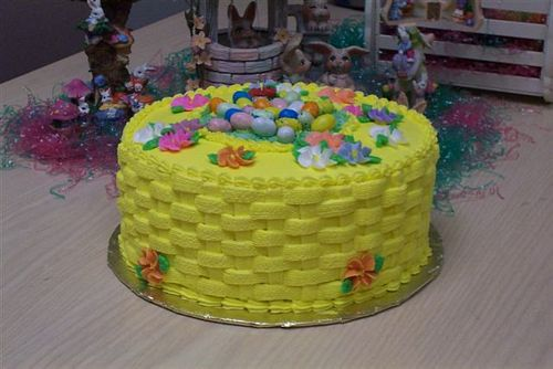 Sprinkles custom made cakes cupcakes cookies and treats easter easter basket cake negle Images