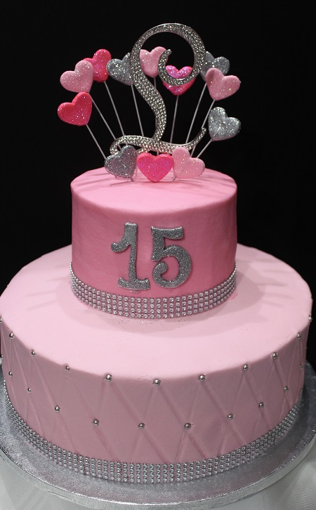 80dbdd70932 Quinceaneras  Sprinkles Custom Made Cakes